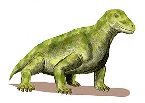 Dinocephalia - Life restoration of Moschops capensis