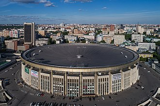 Olympic Stadium (Moscow) - Aerial view of the arena (c.2017)