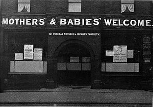 Alys Pearsall Smith - Image: Mothers and Babies welcome, Bunting, A school for mothers Wellcome L0007064