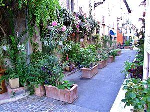 Mouans-Sartoux - A street in Mouans-Sartoux