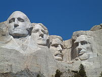 The Mount Rushmore National Memorial.