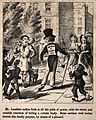 Mr. Lambkin walking down a street on his way to court a lady Wellcome V0011254ER.jpg