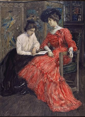 "F. Luis Mora - ""Mrs. F. Luis Mora and Her Sister"" by F. Luis Mora at the Metropolitan Museum of Art, 1902"