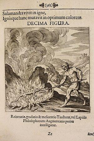 Matthäus Merian - Alchemical illustration, Musaeum Hermeticum, 1678