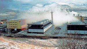 Машинные корпуса Мутновской электростанции