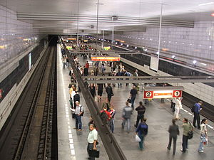 Line C (Prague Metro) - Transfer station Muzeum on line C