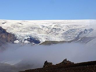 Katla (volcano) - Image: Myrdalsjökull glacier iceland 2005 1