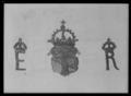Näsduk i linne med Erik XIVs namnchiffer och Vasa-vapnet - Livrustkammaren - 44756.tif