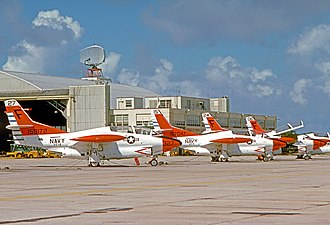 VT-4 (United States) - North American T-2C Buckeyes of VT-4 Training Squadron at Pensacola NAS Florida in July 1975