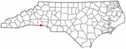 Location of Grover, North Carolina