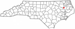Location of Plymouth, North Carolina