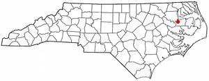 Plymouth, North Carolina - Image: NC Map doton Plymouth