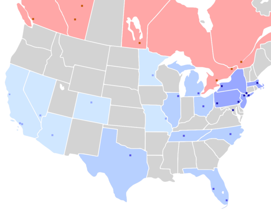 NHL teams and conferences map - 2020-21.png