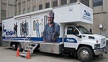 A mobile clinic used to screen coal miners at risk of black lung disease