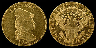 Quarter eagle coin issued in the united states