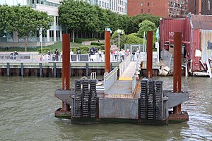 NYC Ferry - Articulated gangway at the South Williamsburg landing