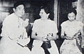 Nana Mayo being interviewed Dunia Film 15 Jul 1954 p17.jpg