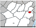 Napierville Quebec location diagram.PNG
