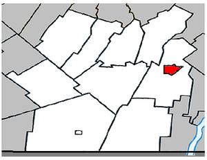 Napierville, Quebec - Image: Napierville Quebec location diagram