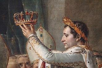 The Coronation of Napoleon - Detail of Napoleon