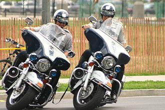 Motorcycle training - Motor officers of the Fairfax County, VA police at the National Police Motorcycle Rodeo, on the National Mall, Washington D.C.