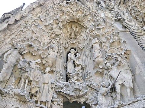 Nativity Facade Sagrada Familia Barcelona