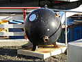 Naval Mine found in the North Atlantic now in Vagur Faroe Islands.JPG
