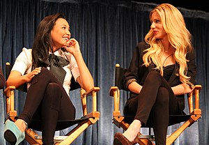 Naya Rivera - Rivera (left) and Heather Morris at the 2011 PaleyFest event