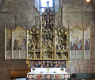 Nederluleå Church - The altarpiece (1520), one of the finest of its kind in Sweden