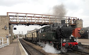 Nene Valley Railway - Image: Nene Valley Railway Polish Tank Slask Tkp No 5485 Wansford