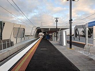 Murrumbeena railway station - Westbound view in June 2018