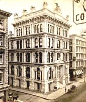 Former New York Life Insurance Company Building - Original building, before being extended, and then replaced