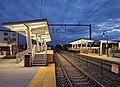 New mini-high platforms at Mansfield station, October 2020.jpg