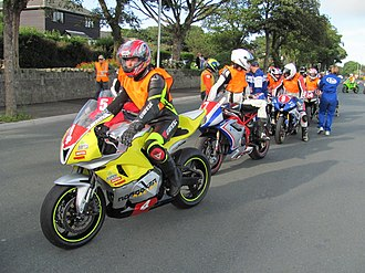 2012 Manx Grand Prix - Image: Newcomers speed control lap IMG 0054