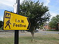 Newport Quay Isle of Wight Festival sign.JPG