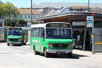 Western Greyhound - Plaxton Beaver 2 bodied Mercedes-Benz O814s at Newquay bus station in May 2013