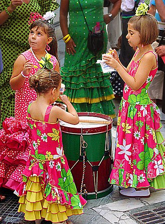 Feria de Agosto - Lots of little kids at the Feria de Malaga had the traditional dresses on.
