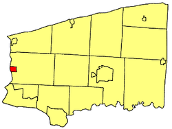 Location within Niagara County.