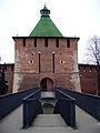 Nizhny Novgorod Kremlin. Pedestrian bridge to Nikolskaya Tower.jpg