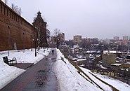 Nizhny Novgorod View to Taynitskaya Tower of Kremlin