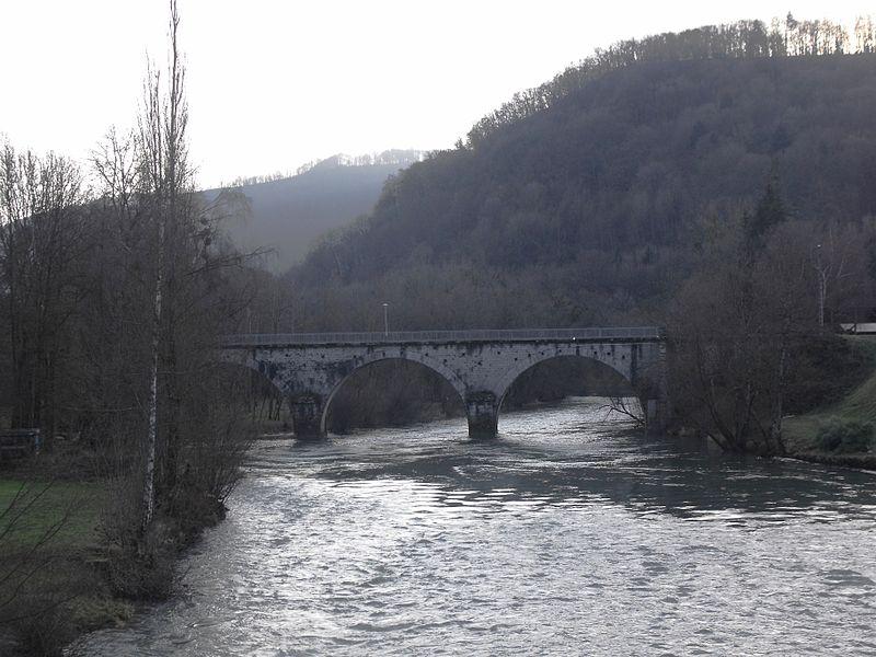 Pont sur le Doubs à Noirefontaine; Doubs, France