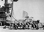 North American FJ-2 Fury of VMF-312 aboard USS Siboney (CVE-112), circa in March 1956.jpg