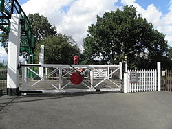 North Weald stn level crossing look north.JPG
