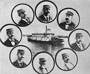 Northwest (sternwheeler) - Northwest and officers, circa 1895.