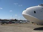 Nose of Short Solent, parking lot, little homebuilt light planes (6096995539).jpg