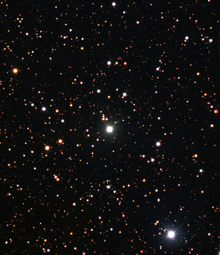 Nova Centauri 2013 is the first in which evidence of lithium has been found. Nova Centauri 2013 ESO.jpg