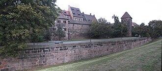 City walls of Nuremberg - Rotes K