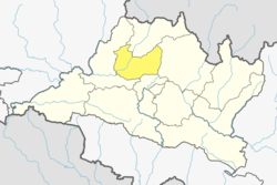 Location of district in province
