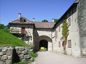Nyköping Castle - View from the east of the west side entrance