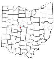 Location of Magnetic Springs, Ohio